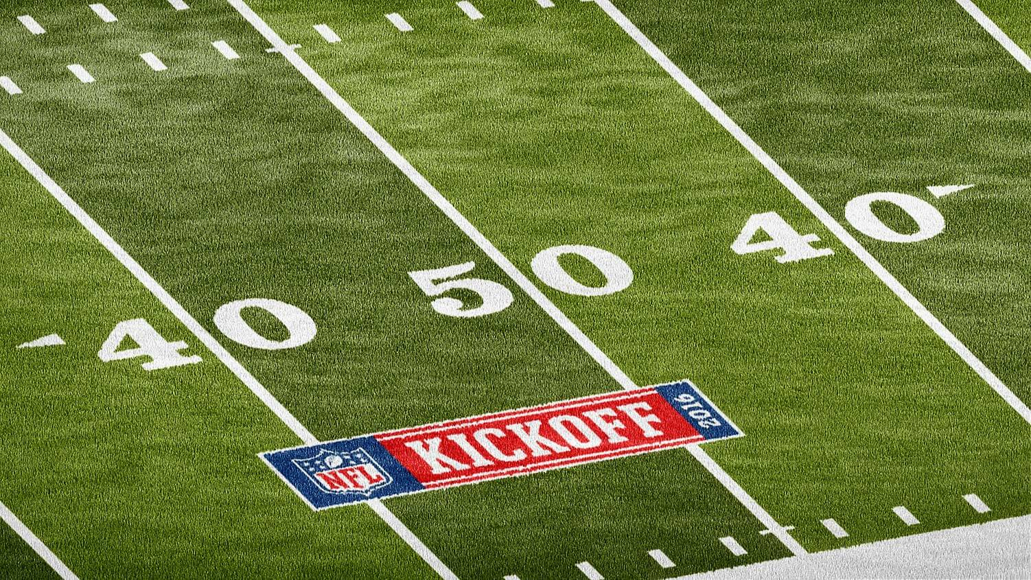 nfl Football midfield logo photoshop mockup