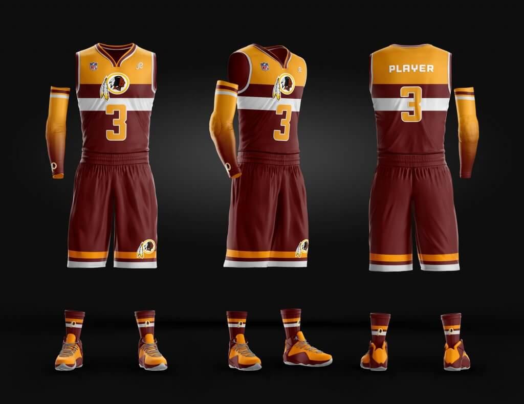 Washington -redskins-basketball-template