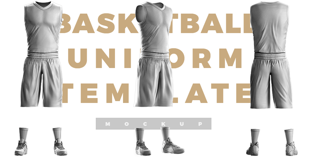 basketball photoshop uniform psd template