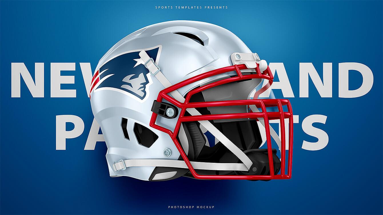 1dcce0e09 Football Helmet Mockup Template