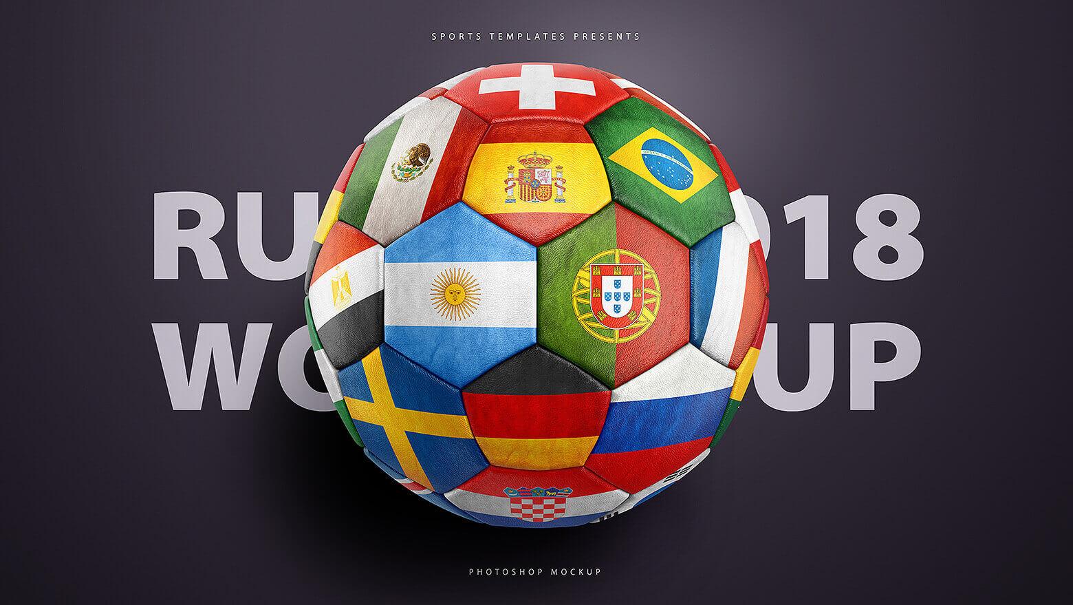 Good Football Ball World Cup 2018 - world-cup-2018-soccer-football-ball-mockup-template  Pic_249740 .jpg