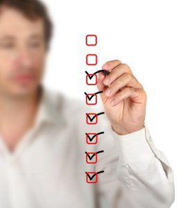 Underwriting checklist