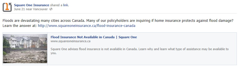 facebook promoted post on flooding