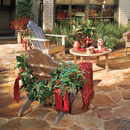 dress up outdoor furniture