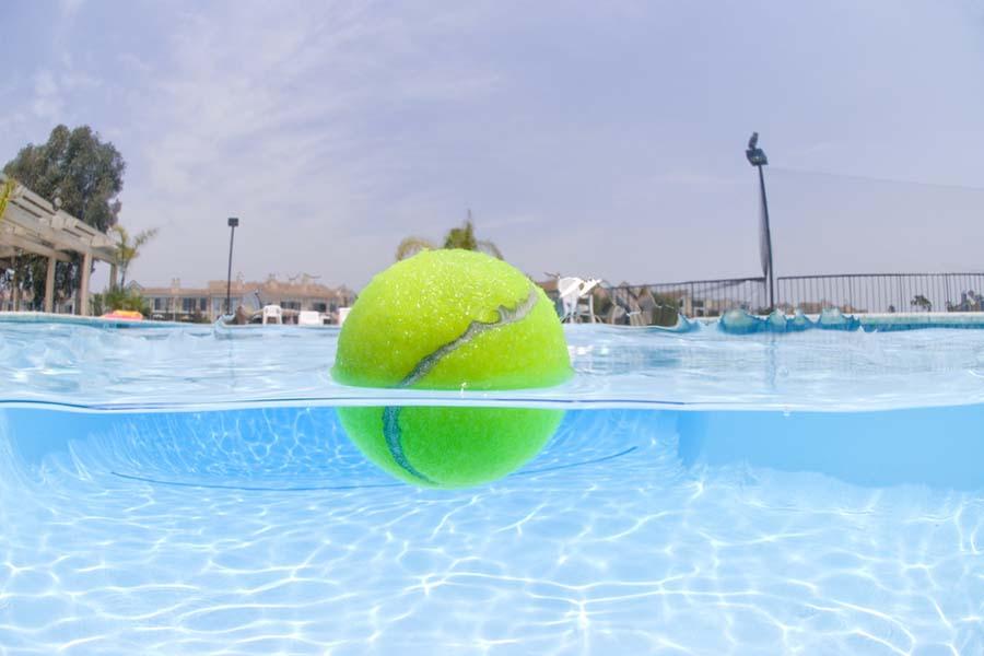 Tennis Ball in the Pool