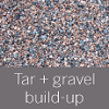 Tar and gravel roof