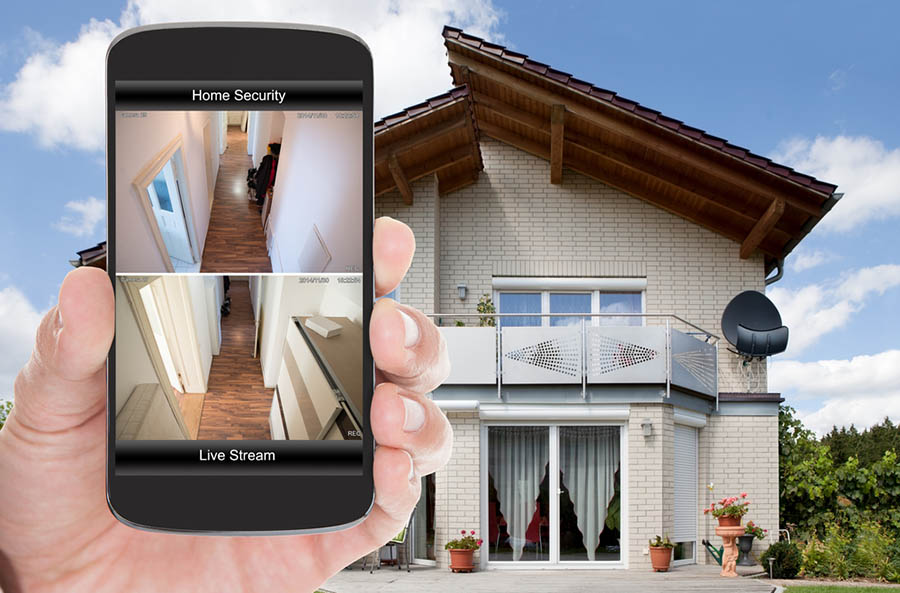 Viewing home security system on your smartphone