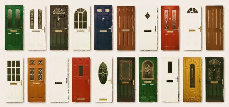 image of different door types