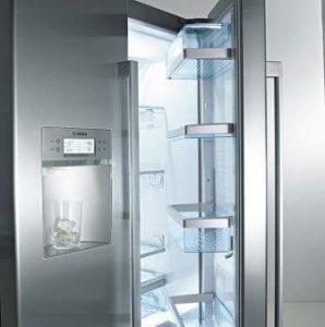 Image of an open fridge