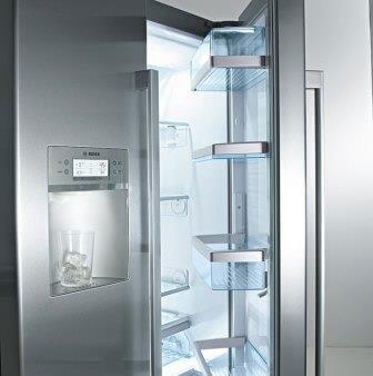 Image of an open fridge