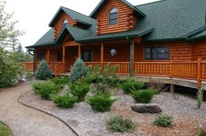 Image of a log home