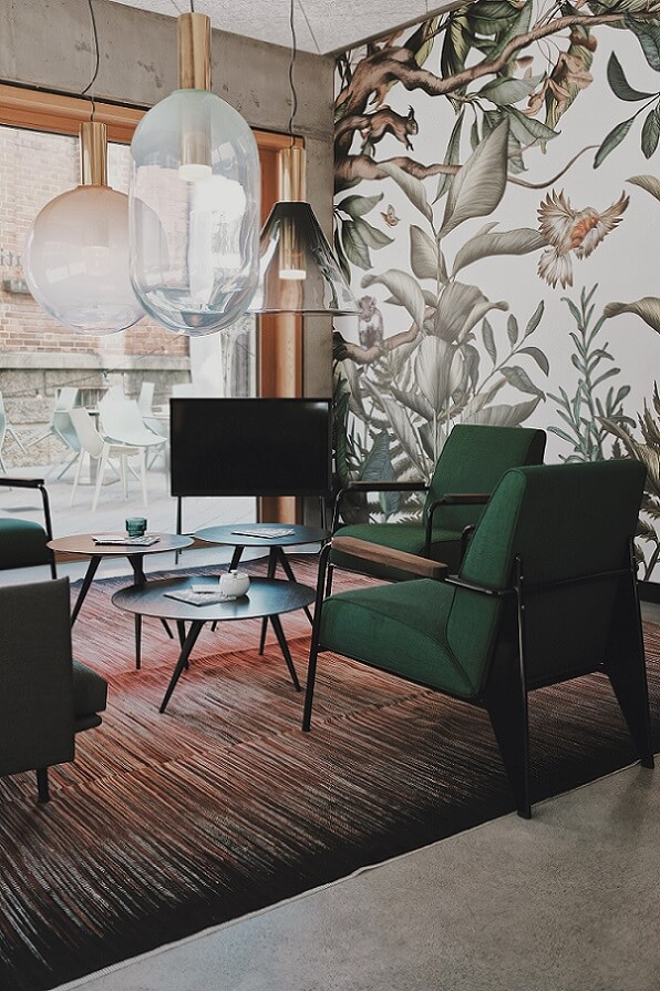 Earthy living room following feng shui