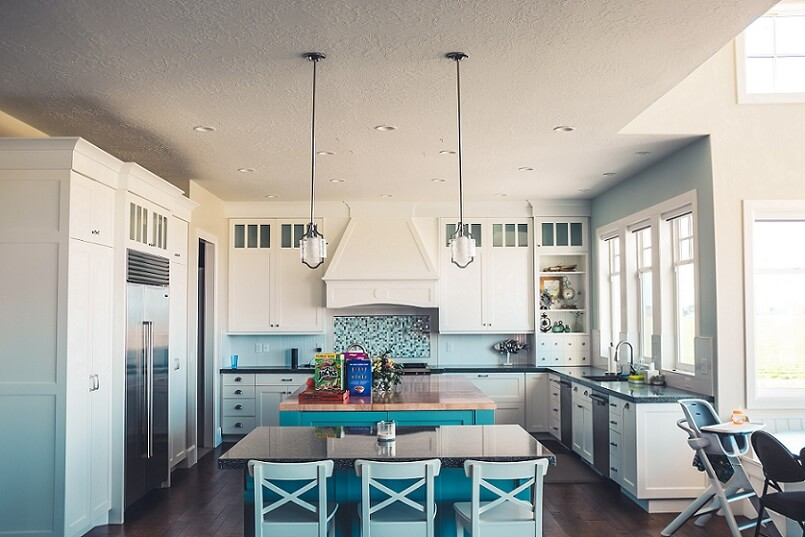Feng shui in the kitchen of a home