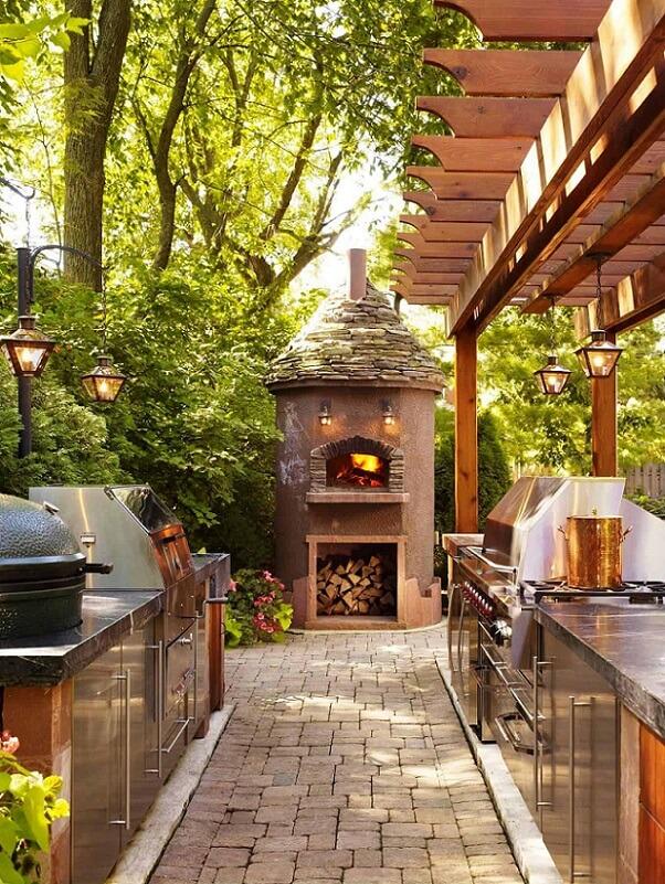 pizza oven outside