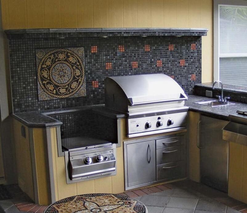 Tile kitchen backsplash ideas for outdoors