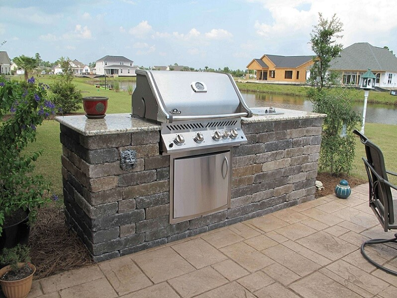 All in one outdoor kitchen