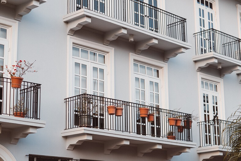 Balcony on an apartment building