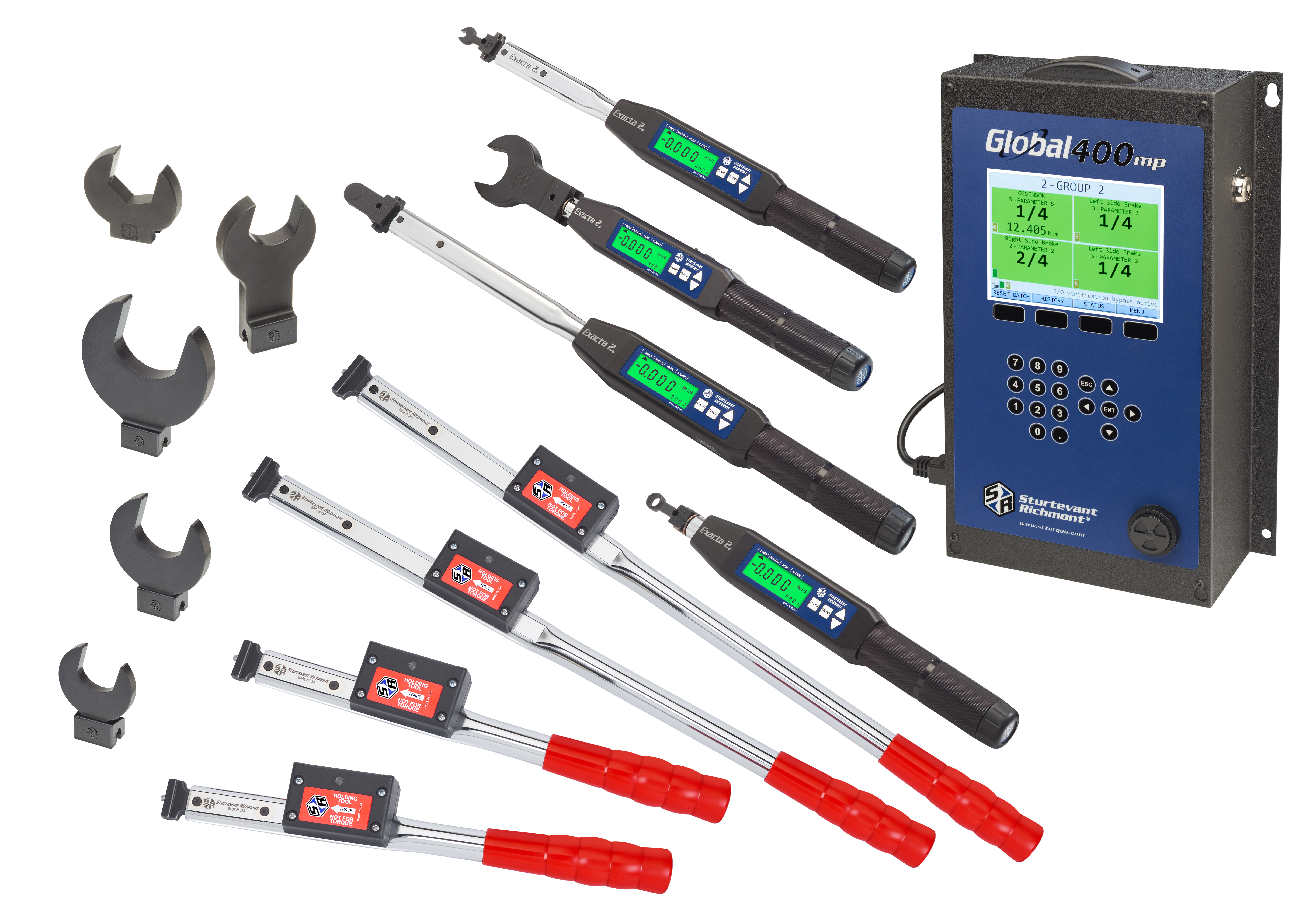 Digital torque and angle wrench, Global 400 and the new holding wrenches