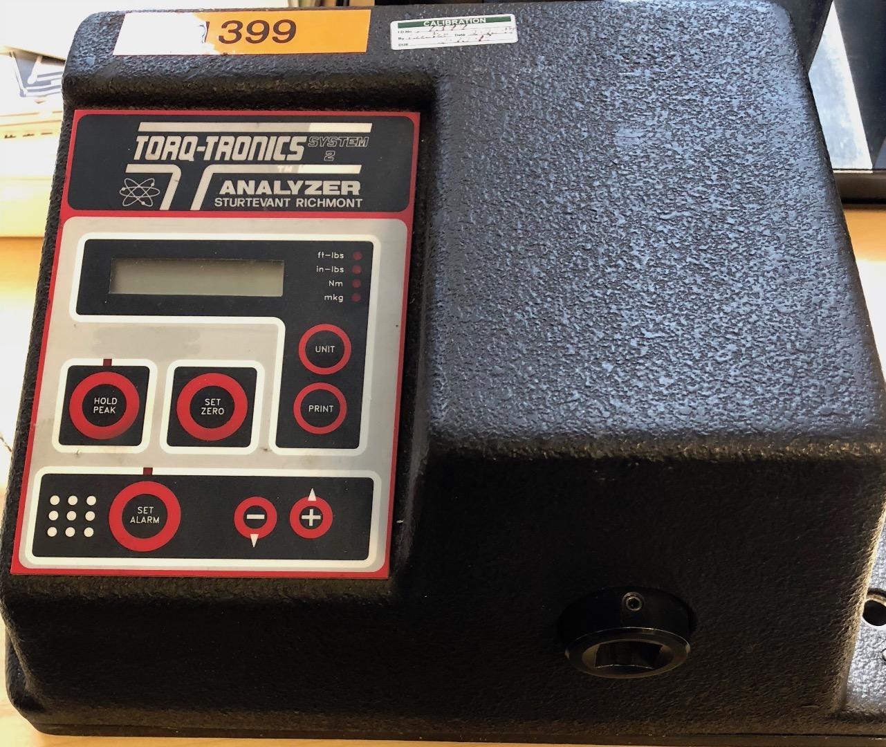 TorqTronics digital torque analyzer built in 1998