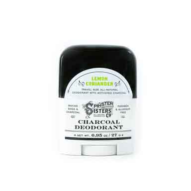 Charcoal Deodorant Travel Size - Lemon Coriander