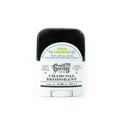 Charcoal Deodorant Travel Size - Lemon Coriander