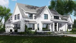 Modern-Farmhouse Style Home Design Plan: 38-526