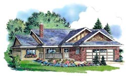 Traditional Style Home Design Plan: 40-157