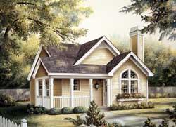 Cottage Style Floor Plans Plan: 77-230