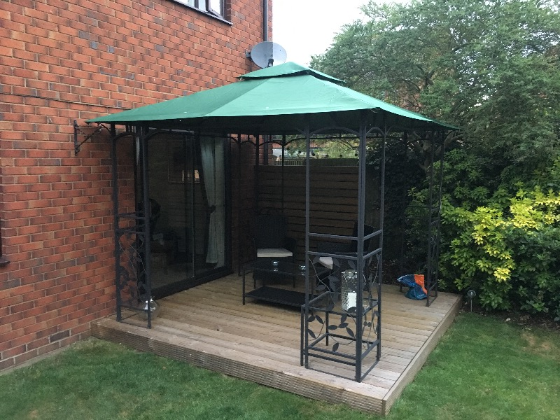 Lucca Steel Leaf Gazebo Theleaf Co