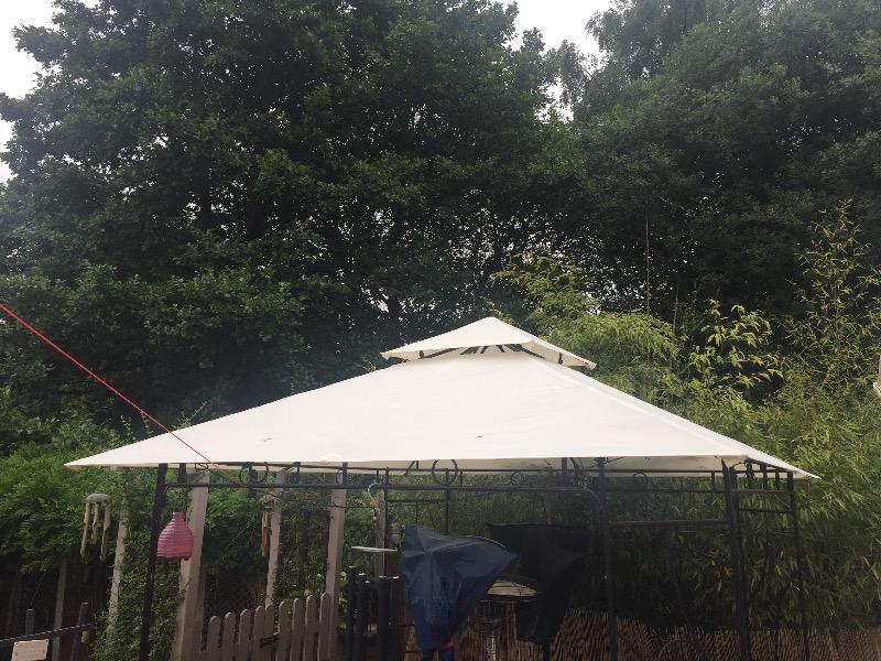 Canopy for x patio gazebo two tier gazebo for Garage opel orleans