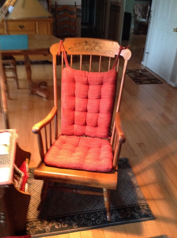 Brisbane Red Tweed Rocking Chair Cushions   Latex Foam Fill, Reversible