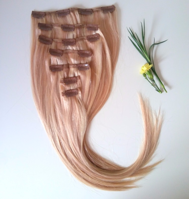Highlight Color 18613 Straight 130g Clip In Human Hair Extensions 20