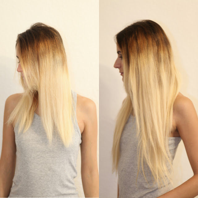 20 Inch Clip In Hair Extensions Ombre Color 6613 Straight 100