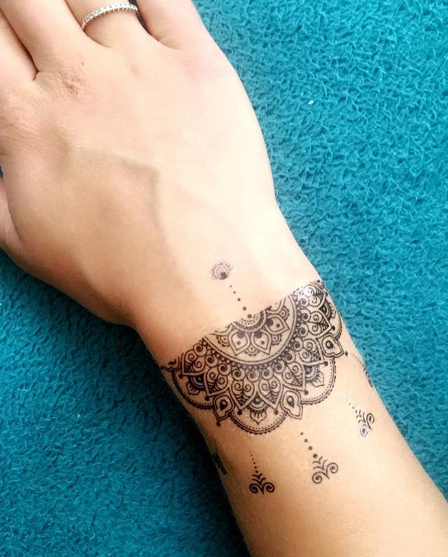 Temporary Tattoo Mandala Mandala Henna Style Artwear Tattoo