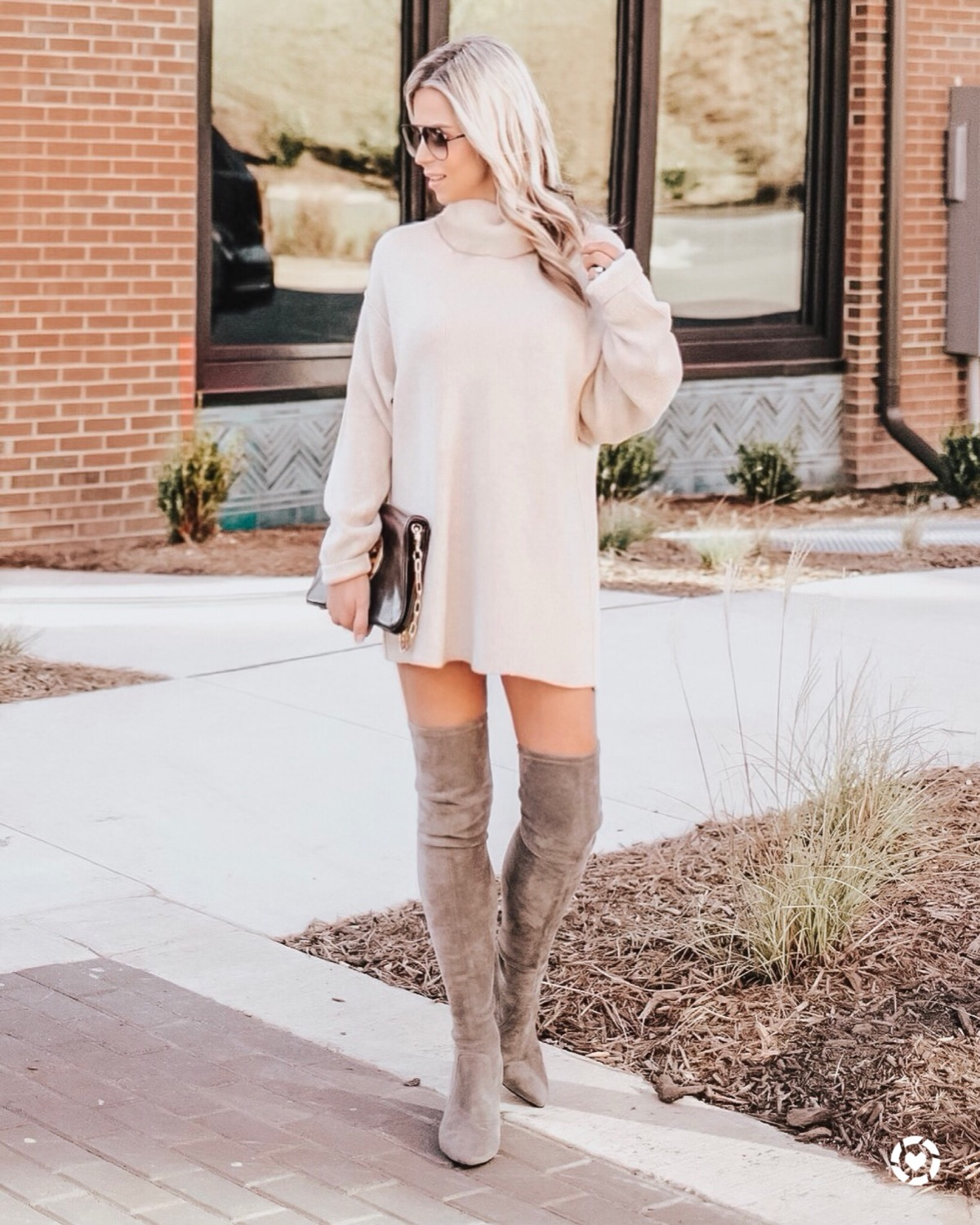 39b62e56d0d Carina  Taupe Over The Knee Suede Leather Boots