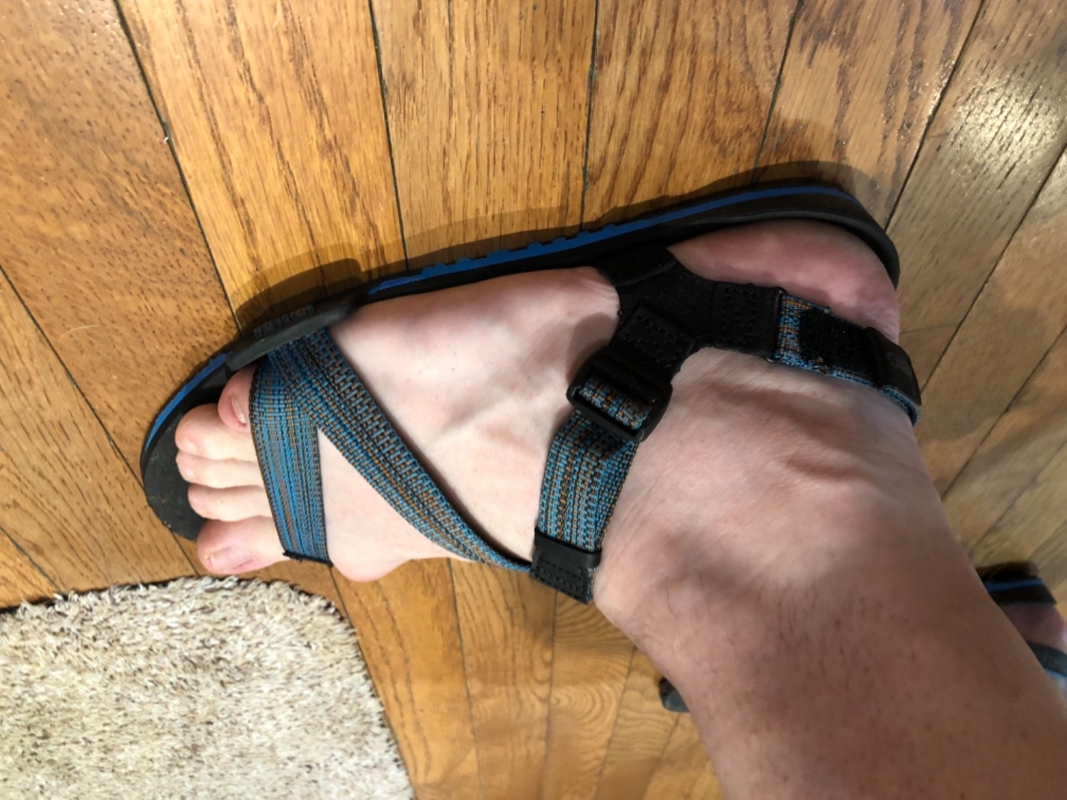 90a38910154 I have chronic heel and foot pain due to plantar fasciitis and bunions,  along with wide feet. Usually wear a 12EE, the size 11 Z-trails fit  perfectly.