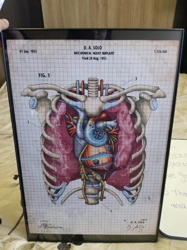 Mechanical heart blueprint ii codex anatomicus mechanical heart blueprint ii malvernweather Images