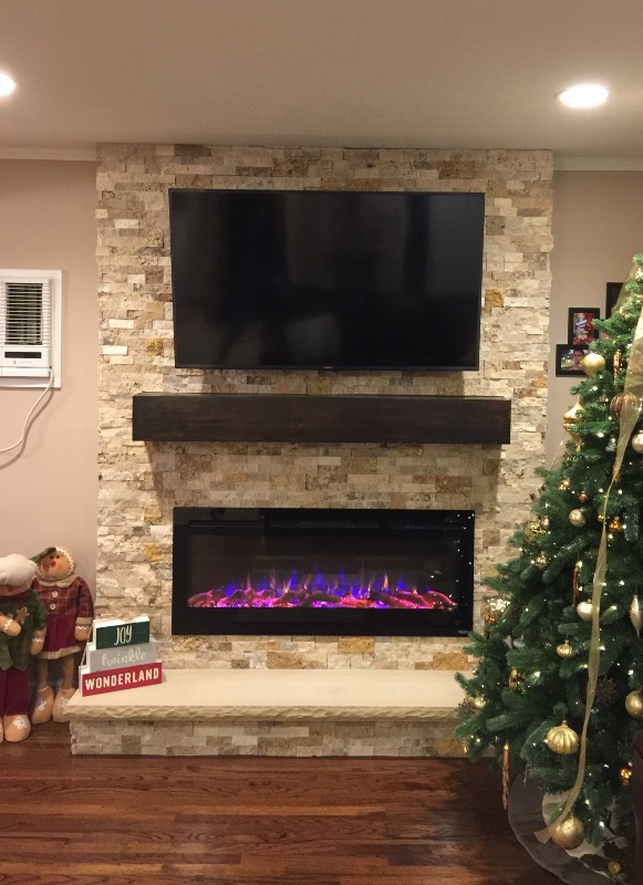 Touchstone 80004 Sideline 50 Recessed Electric Fireplace
