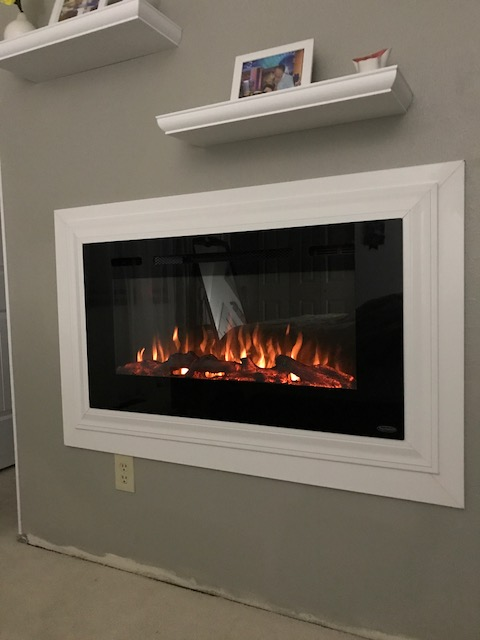 Sideline40 80027 40-inch Wall Recessed Electric Fireplace With ...