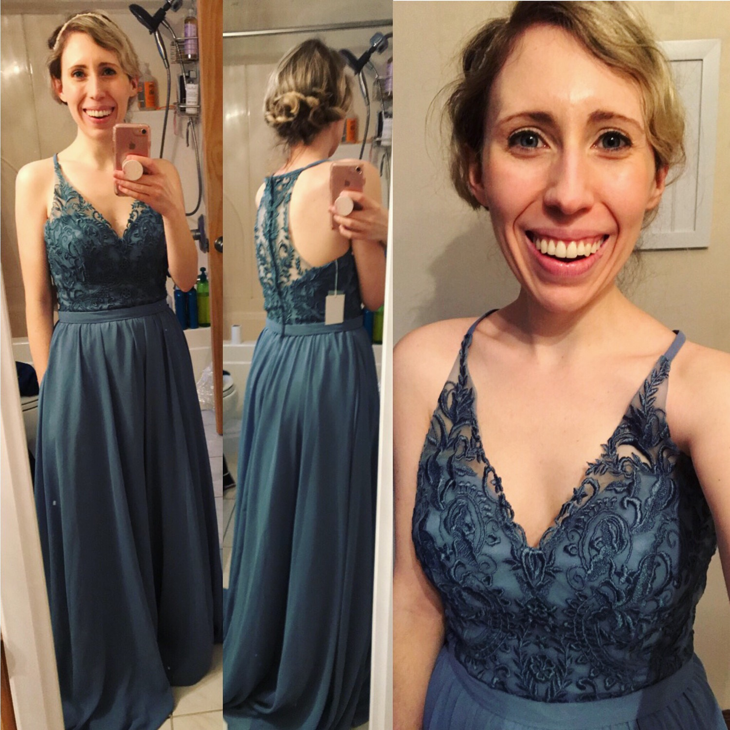 8aefde0aacd This was my first purchase from Kennedy Blue and it did not disappoint! I  LOVE the pockets and other than the length the dress fits me perfectly!