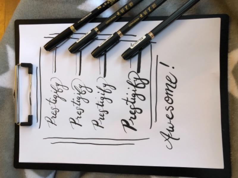 Calligraphy brush pens 4 set prestigify