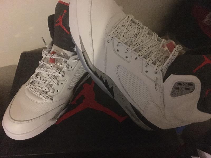 b3ba2be0face good jordan f. verified customer review of white cement shoelaces d950c  23c4d