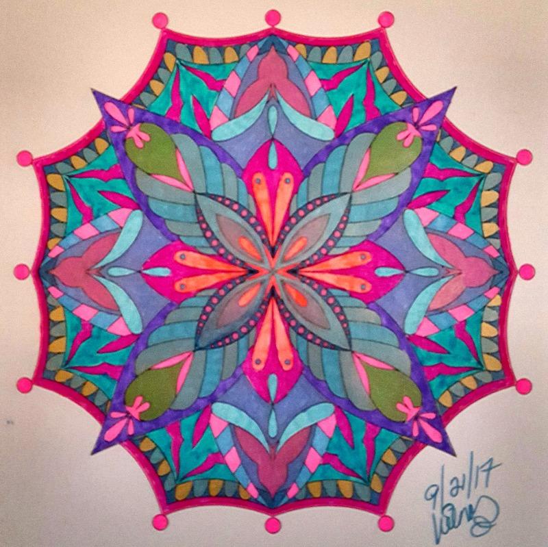 Mandala Coloring Book With Hardback Covers  Spiral Binding  ColorIt