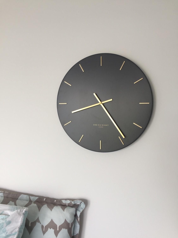 Buy One Six Eight London Luca Wall Clock Charcoal Grey