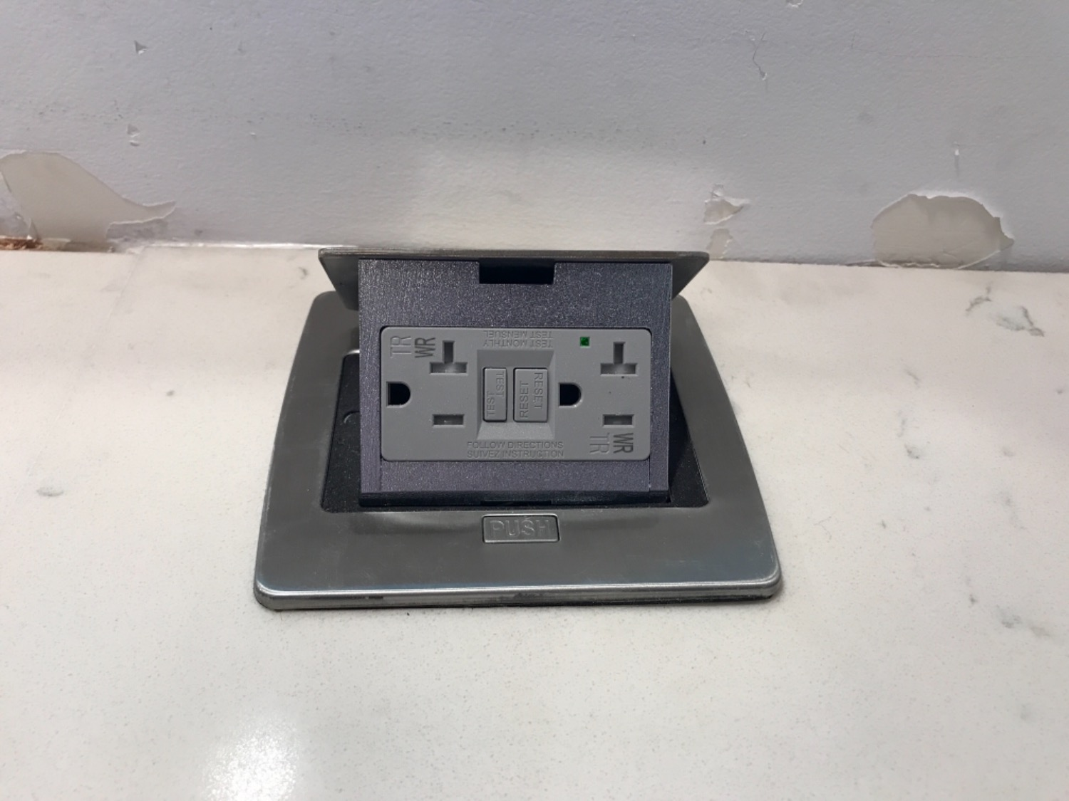 Lew Electric PUFP-CT-SS Kitchen Pop Up 20A GFI Outlet, Stainless ...