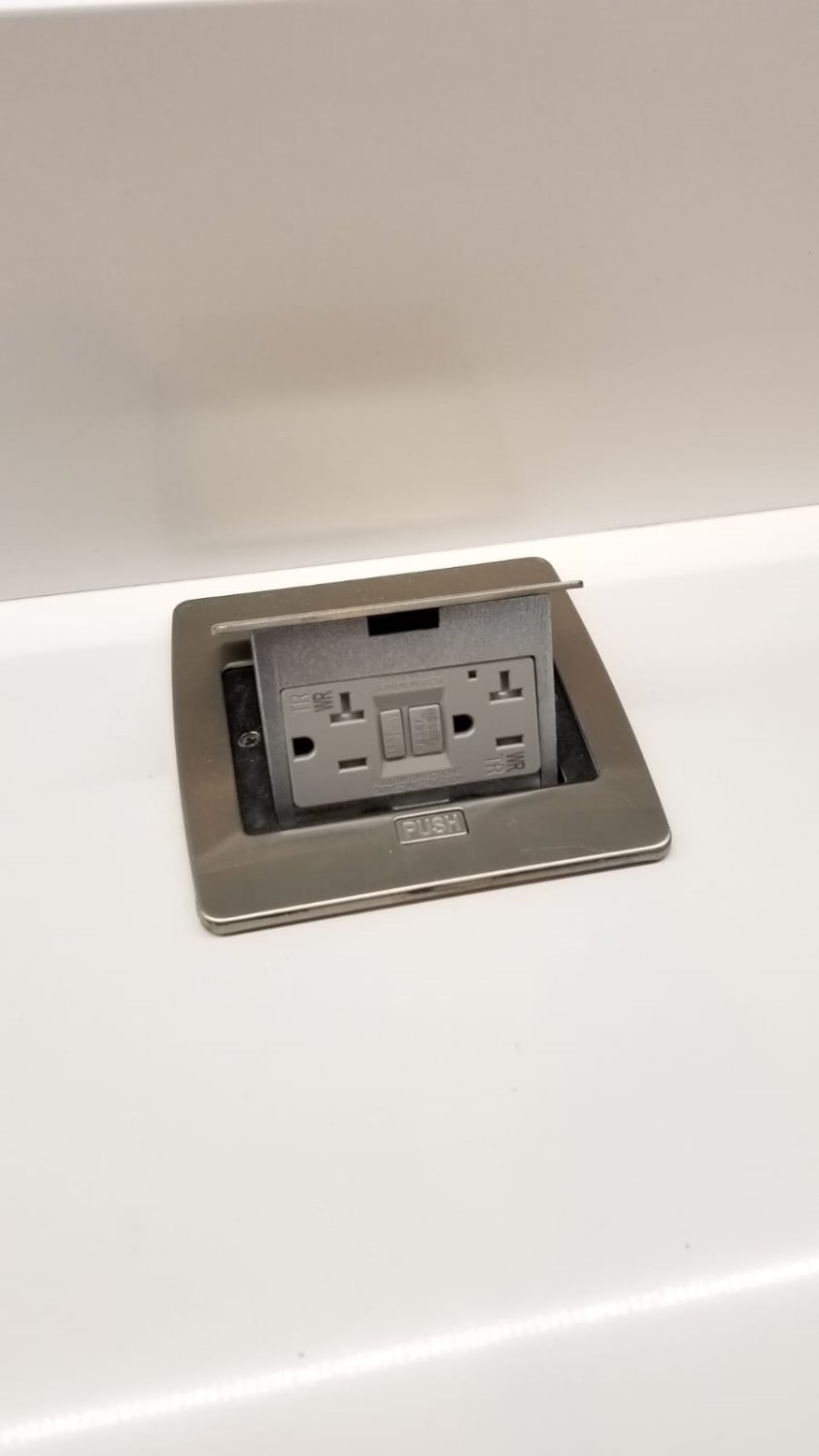 Lew Electric Pufp Ct Ss Kitchen Pop Up 20a Gfi Outlet Stainless How To Hook A Juan C Verified Customer Review Of Countertop Protected Power