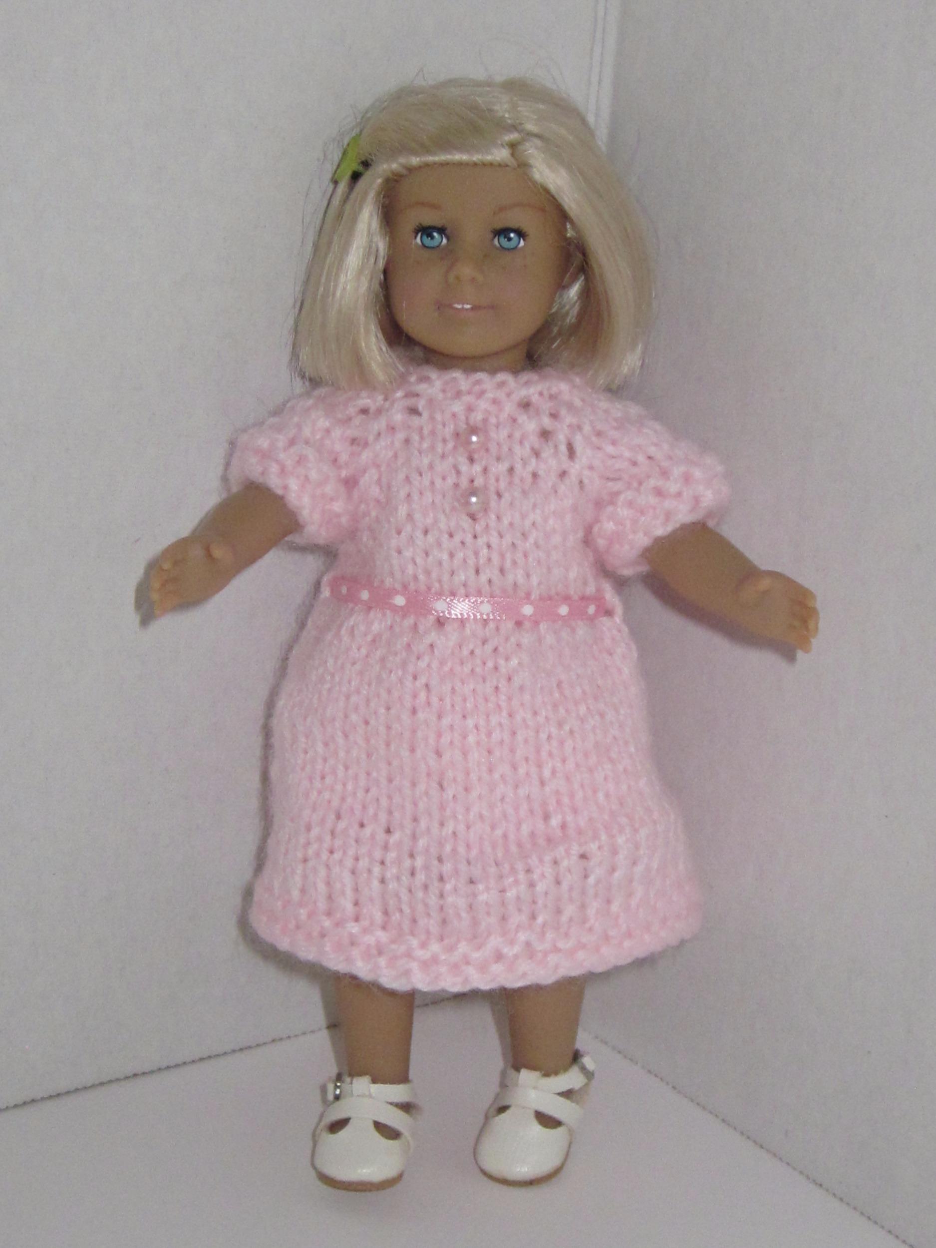 Love U Bunches Mini Dresses Knitting Pattern for 6 inch Mini Dolls ...