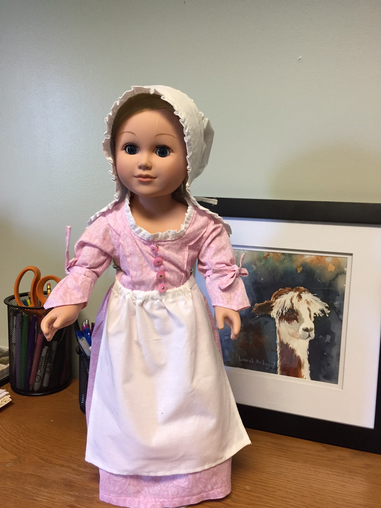 Flossie Potter Betsy Ross Shop Dress Doll Clothes Pattern 18 inch