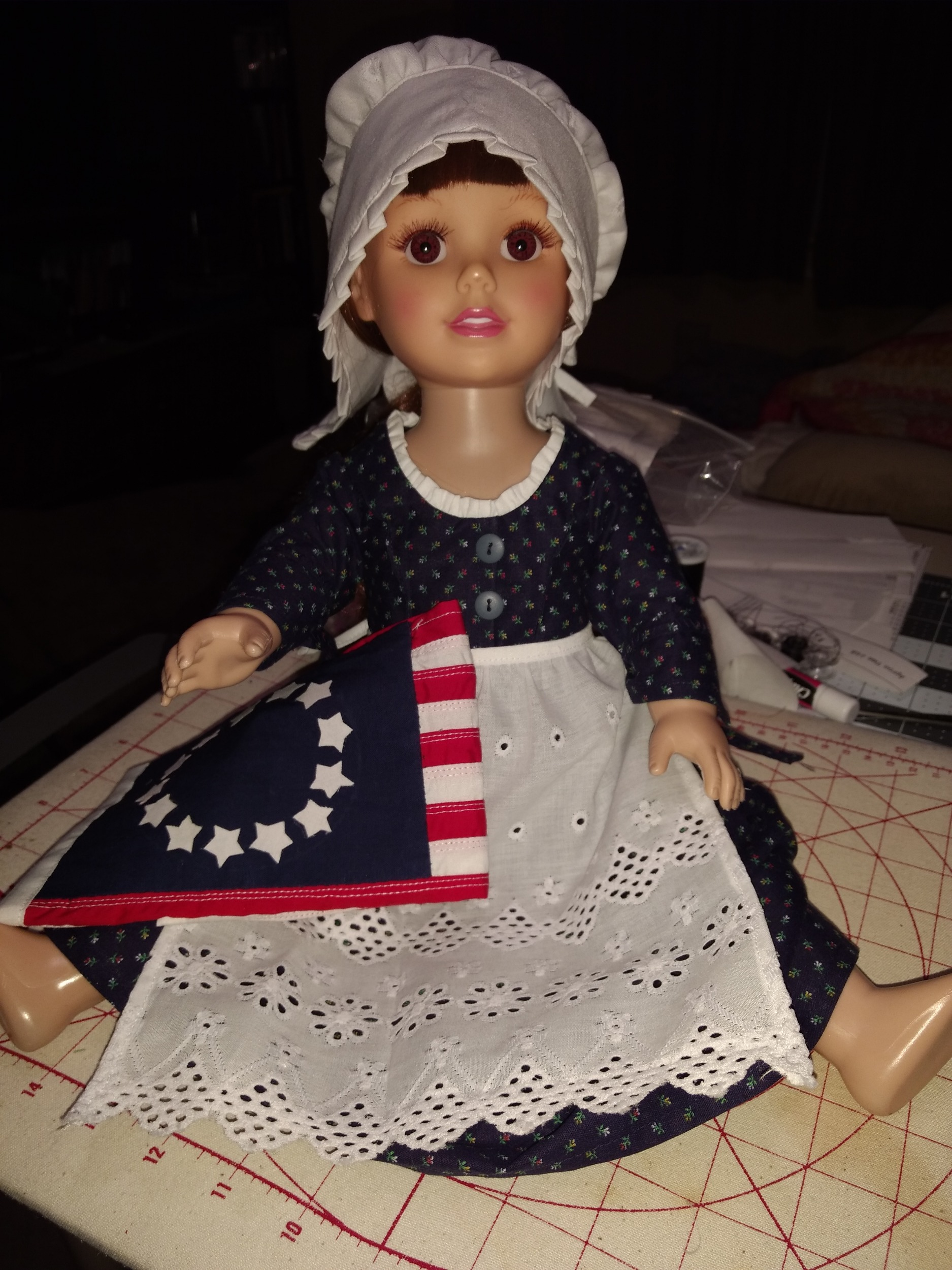 Flossie Potter Women of History Betsy Ross Bundle Doll Clothes