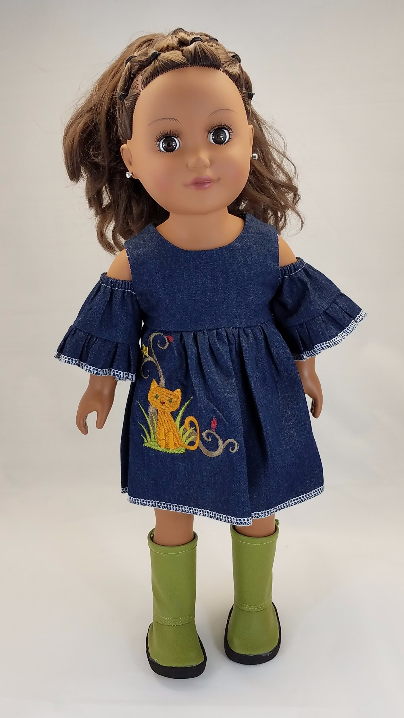 Doll Clothes Patterns By Valspierssews Review Of American: QTPie Doll Clothing Peek-A-Boo Dress Doll Clothes Pattern